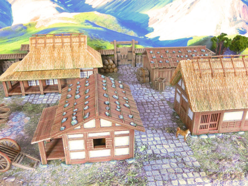 Set of 4 Samurai Farm Houses