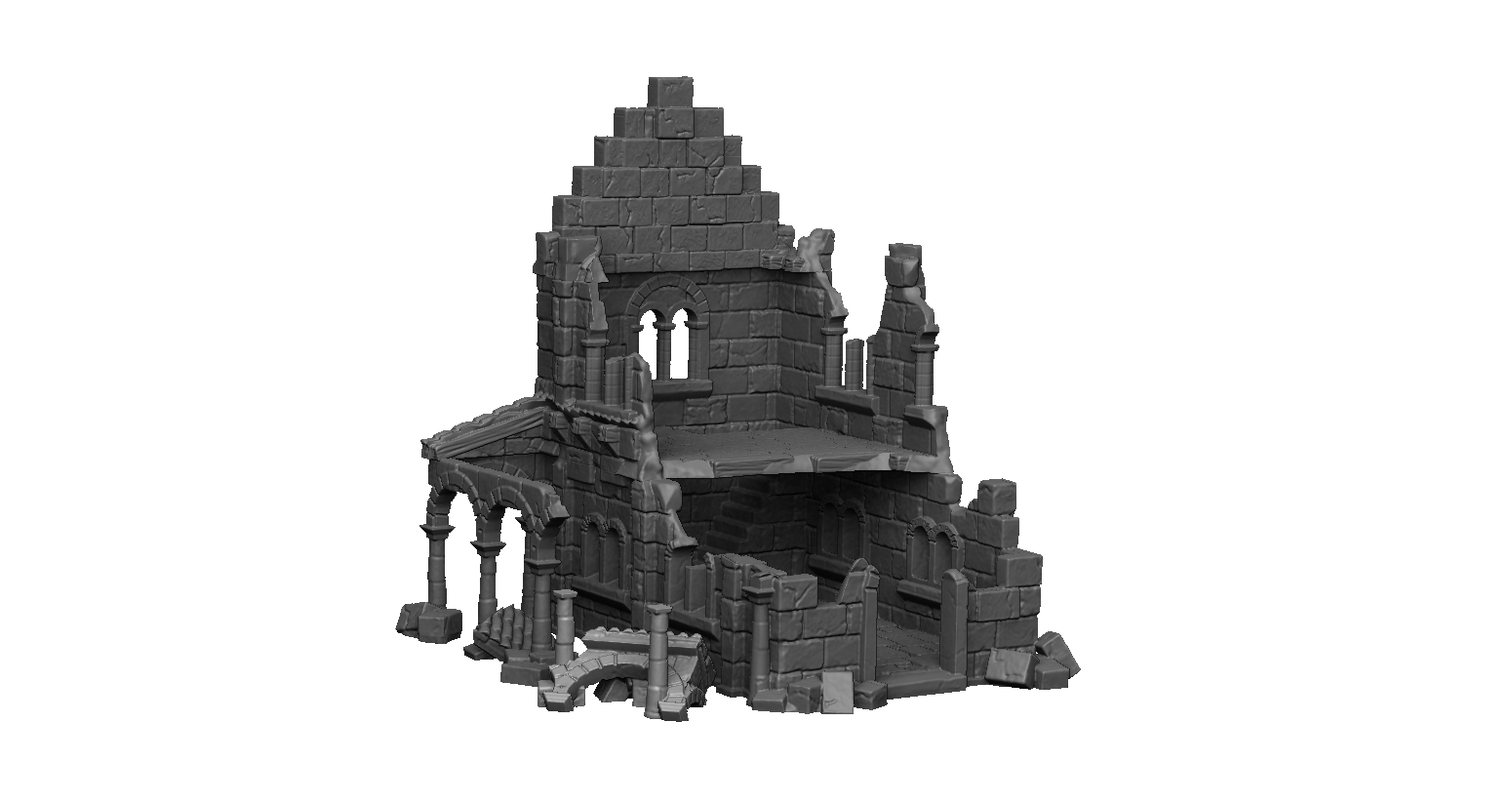 Dark Realms Forge Arkenfel Ruined House 2