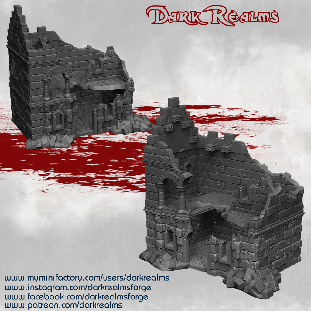 Dark Realms Forge Arkenfel Ruined House 1