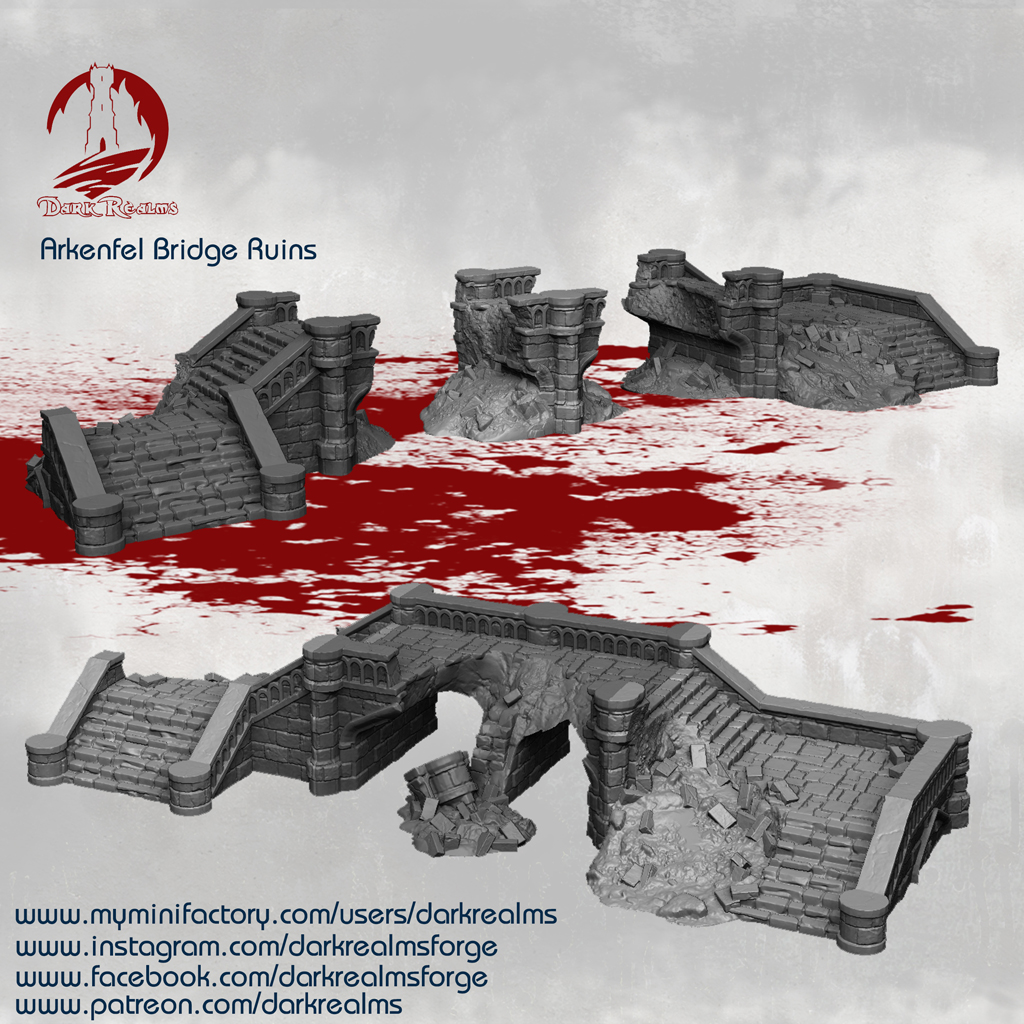 Dark Realms Forge Arkenfel Ruined Bridge 2 - Click Image to Close