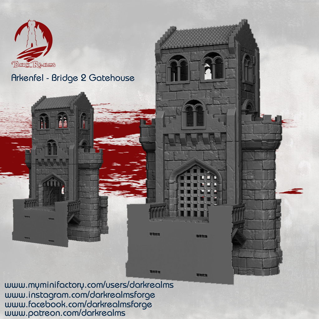 Dark Realms Forge Arkenfel Bridge 2 Gatehouse