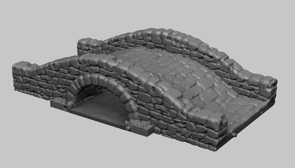 Dark Realms Forge Medieval Bridge and River Set