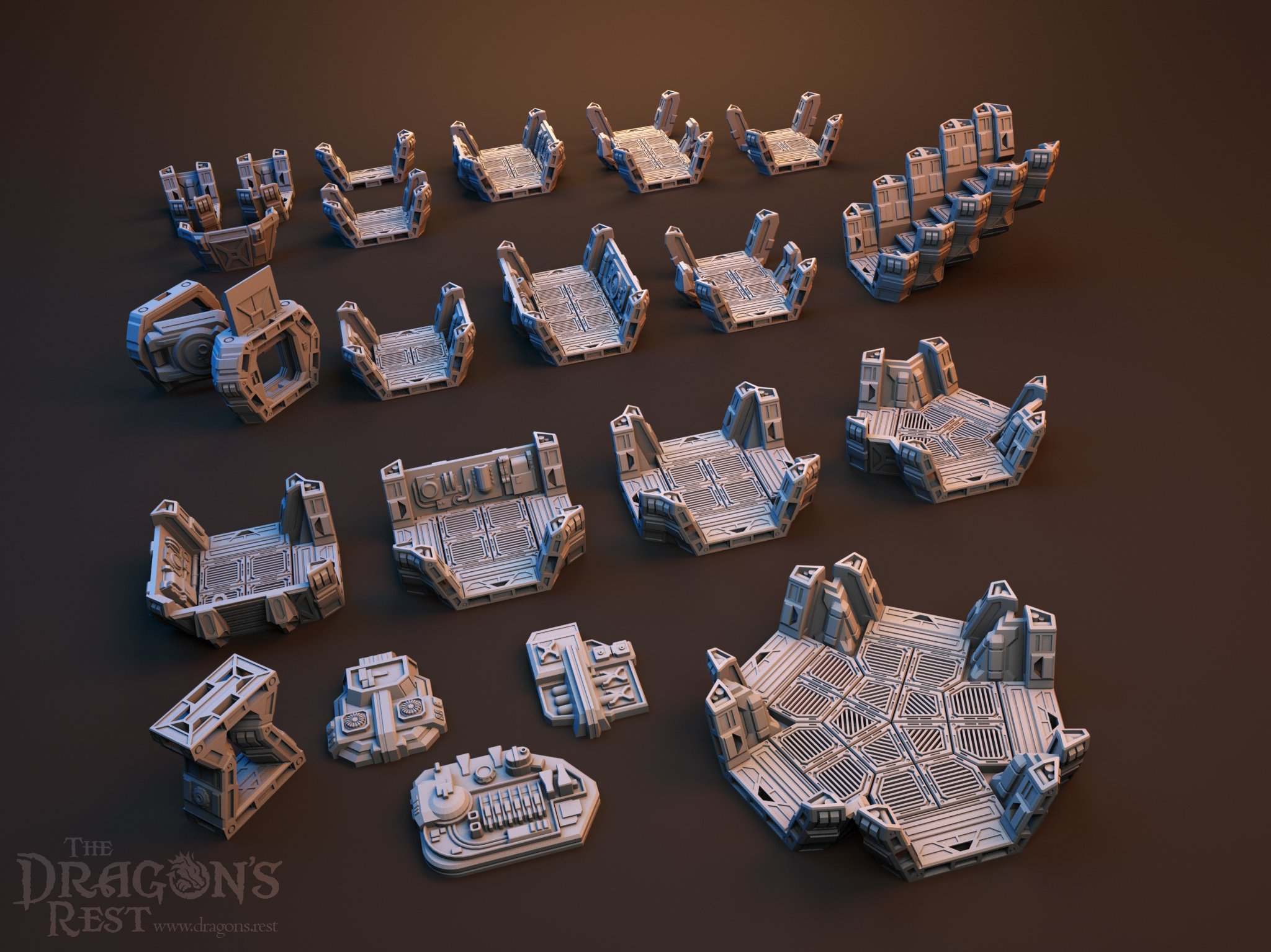 Dragon's Rest Covered Corridor Hub Set Bundle