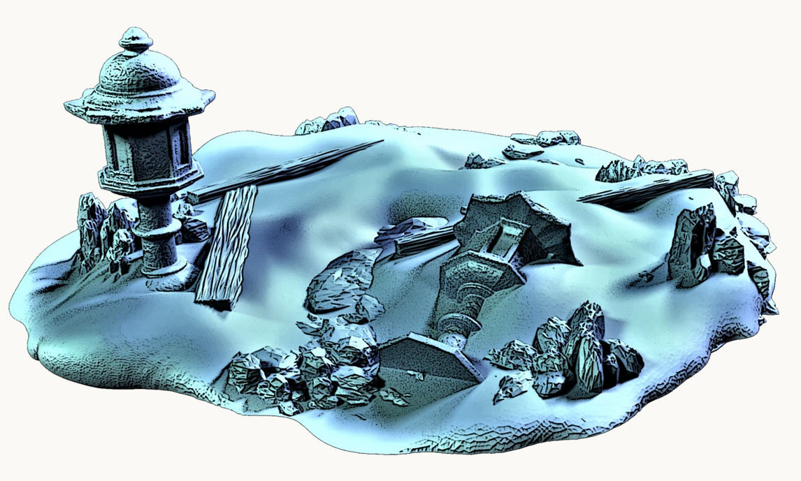 Forsaken Lands: Snow Covered Ground (9 pieces)