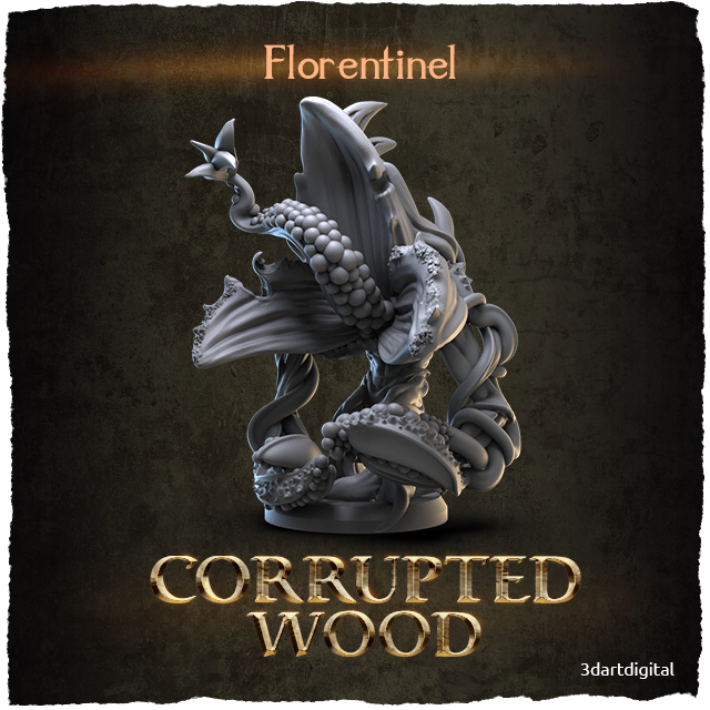 3D Art Digital Corrupted Wood Florentinel 1