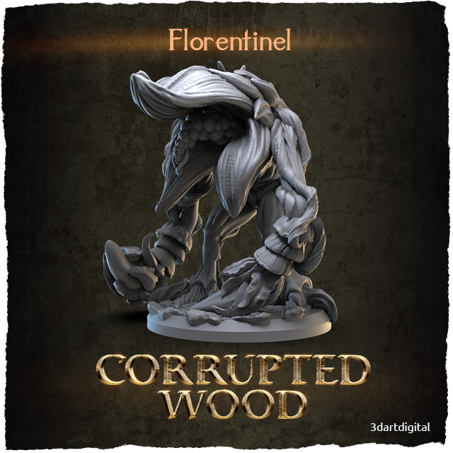 3D Art Digital Corrupted Wood Florentinel 2