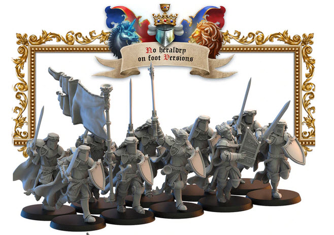 Lost Kingdom Miniatures Knights Afoot 1