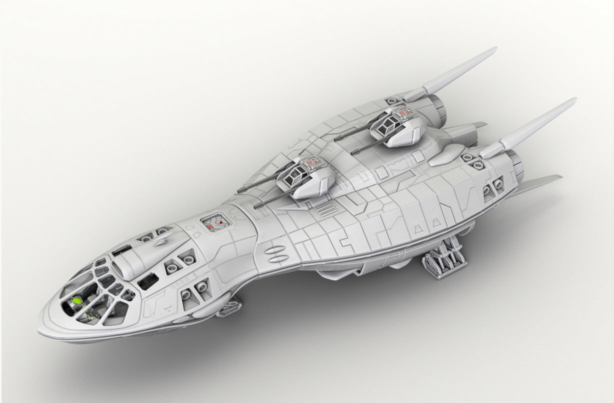 2nd Dynasty Scout Ship Beta