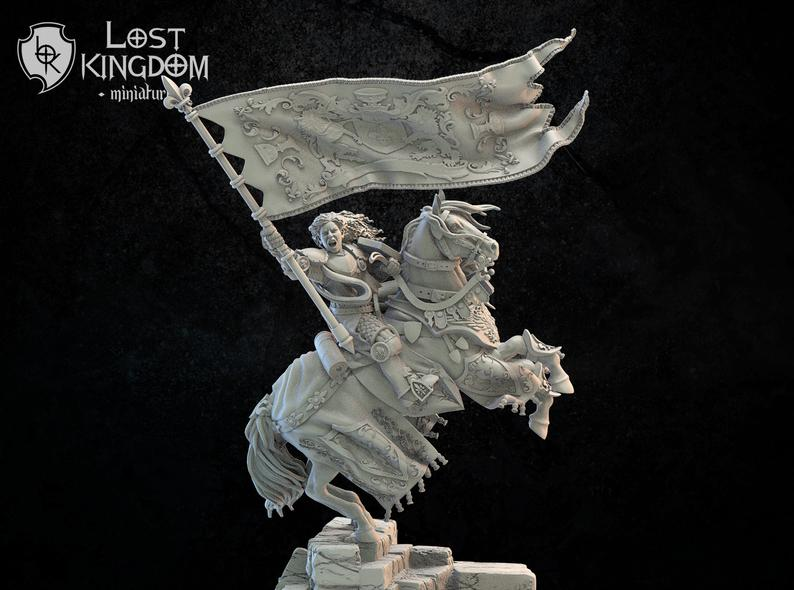 Lost Kingdom Miniatures Mercia Standard Bearer