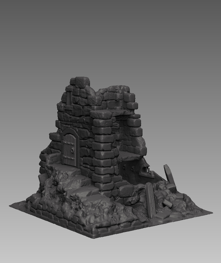 Dark Realms Forge Medieval Ruined Watchtower