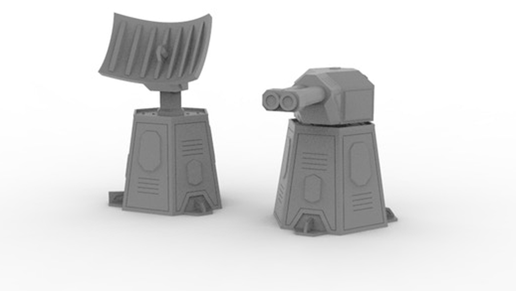 Exo Castrum RADAR & Gun Towers Set
