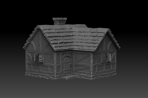 Dark Realms Forge Medieval House Small
