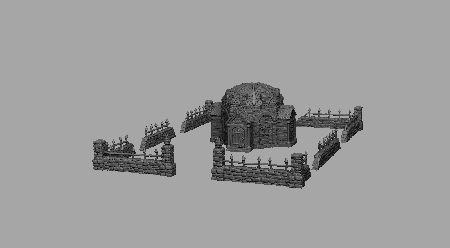 Dark Realms Forge Medieval Mausoleum