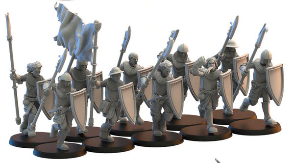 Lost Kingdom Miniatures Men at Arms - Click Image to Close